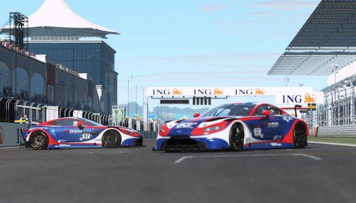 Aston Martin GT3 racing Istanbul GP rFactor2